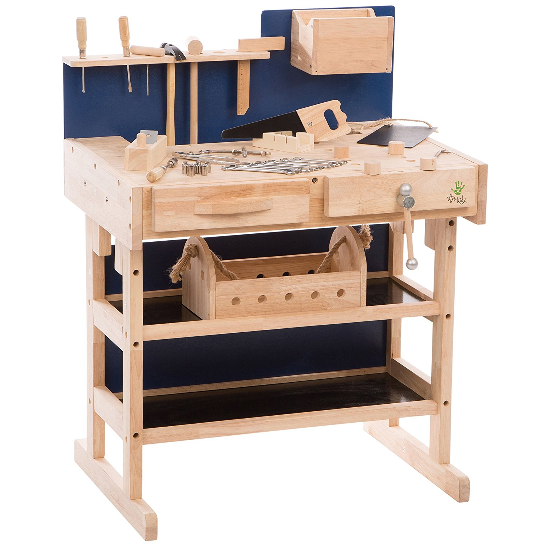 Werkbank aus Holz für Kinder